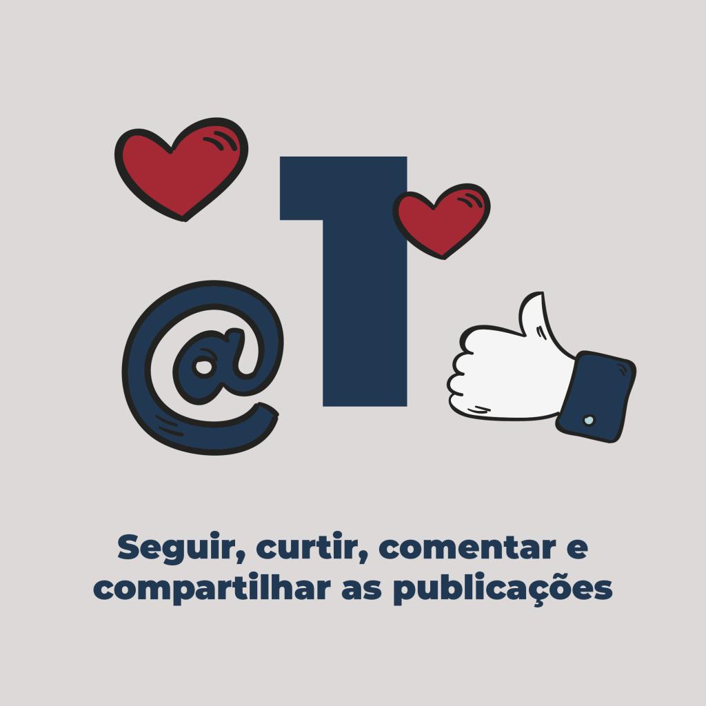 01 - Seguir, curtir, comentar e compartilhar as publicações