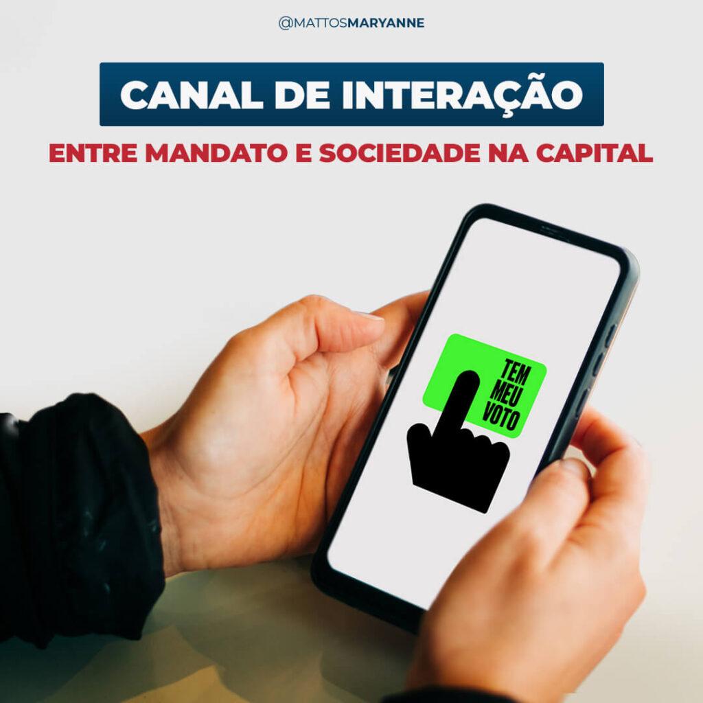 Canal de Interação entre mandato e sociedade - Maryanne Mattos