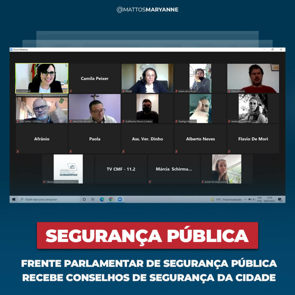 Frente Parlamentar de Segurança Pública recebe conselhos de segurança da cidade